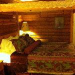 "King size bed, ""log cabin"" room"