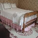 Room with double bed private bath