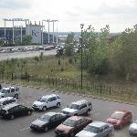 A view of Kauffman Stadium from our 4th floor room