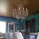one of the many beautiful chandeliers