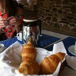 Enjoy the croissants, they cost 3 Euro each.