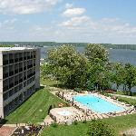 Every room has a balcony with beautiful views of Kentucky Lake
