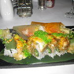 The King Crab Tempura Roll and Fish and Chips Handmade rolls - fantastic!