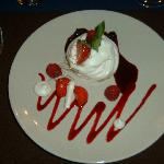 One of the beautifully presented (and delicious) desserts