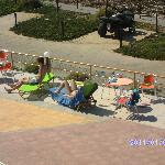Around the pool, ans as you can see, theres no fights for sun beds like you oftern see at hotels