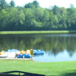 Pond with paddle boats & fishing