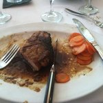 porterhouse pork chop with carrots