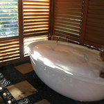 Private spa on cabin deck