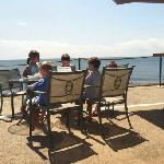 kids having lunch at Tiki Bar