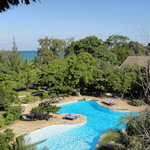  the large pool - the view from the water tower.. monkeys were jumpinga round the trees!