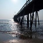 Our daily morning walks along the surf. The pier is a favorite!