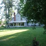 side shot of B&B from gazebo