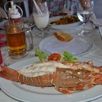 Fresh steamed lobster