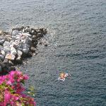 Great swimming in Manarola