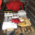 The kit given to NWMP recruits.