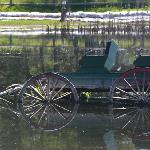 Wagon in water (lake was over full)