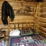 Bedroom area in cabin 15 (don't mind the mess, LOL)
