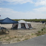 camp site near the beach