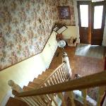The staircase to the dining room and entrance