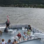 "Aft deck of ""Johanna"" while underway on the Danube"