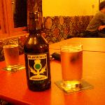  local beer from the bar on the common room