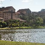 The lake at The Grande Hotel