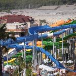 View of waterslides from room 3015