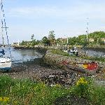 five minute walk to small harbour