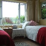 Both twin rooms have stunning views