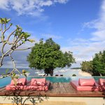 The best area to enjoy the view of Alona Beach, Mindanao Sea and beyond