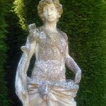 One of the statues in the beautiful garden