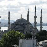 View from the terrace at the Sultanahmet Camii