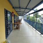 The deck at the 2nd floor
