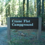 Entrance To Crane Flat Campground