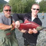  wes with grandson. wes was from hotel seward. great guide.