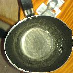 oval, or is it a round saucepan complete with semi nonstick coating