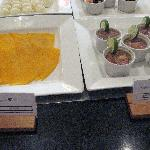 JW Marriott breakfast: queso and shrimp ceviche