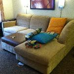 Most comfortable couch EVER in a hotel room.