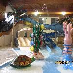 Water Slide and Kid's splash area