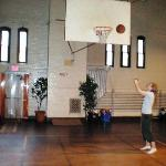 nothing but net - in the Castle gym