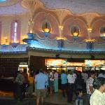 inside the nearby Bollywood cinema