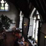  Dining room in old church with vaulted ceiling