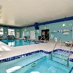 Take a dip in our indoor pool or relax in our whirlpool hot tub