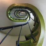 Nesle's steep spiral stairs