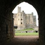 looking into the keep of Warkworth