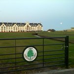 Carnoustie Hotel and 18th on Championship course
