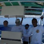 Captain Antonio & Crew on boat