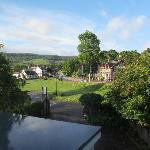  The view out from the upstairs double bed room with the Fiddlers restuarant near the middle of t