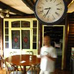 Sorry it's a little blurry... That's the owner in the dining room.