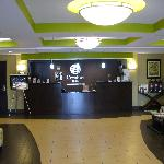 Sparkling lobby and check-in desk